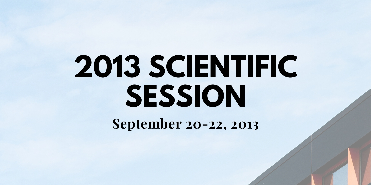 2013-Scientific Session Thumbnail